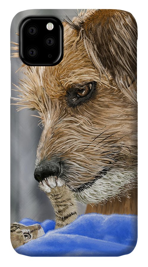 Dog IPhone Case featuring the painting Friends of Norfolk Animal Care Center by Myke Irving