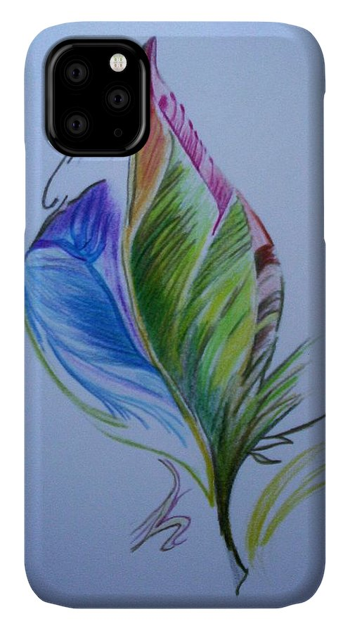 Abstract IPhone Case featuring the drawing For Starters by Suzanne Udell Levinger