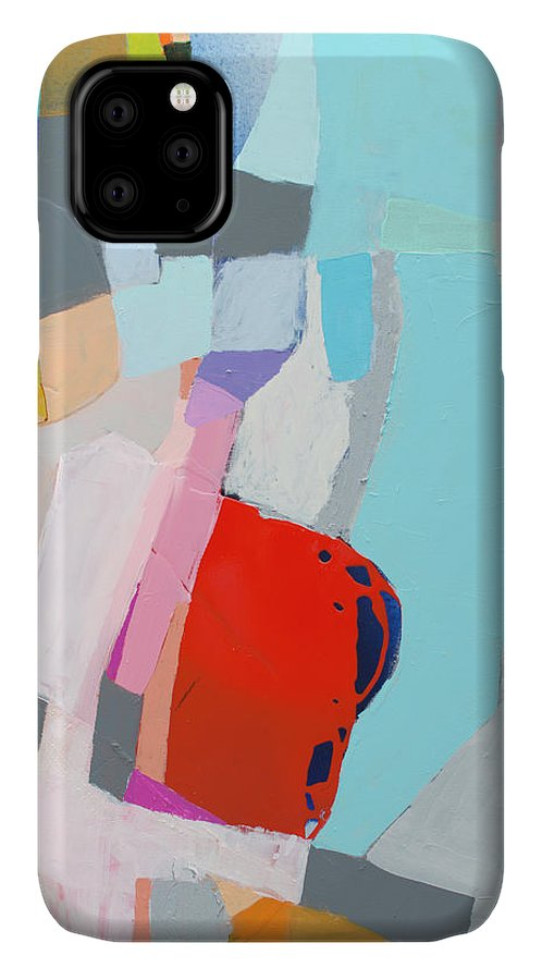 Abstract IPhone 11 Case featuring the painting For What You Are by Claire Desjardins