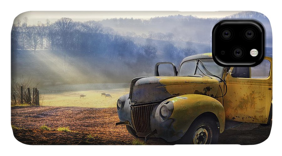 Appalachia IPhone Case featuring the photograph Ford in the Fog by Debra and Dave Vanderlaan