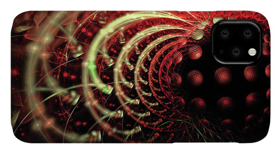 Fractal IPhone Case featuring the digital art Fractal Solar Flare by Ann Garrett