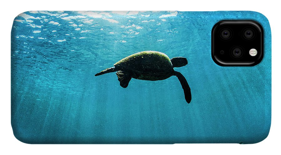 Under Water IPhone Case featuring the photograph Free. by Sean Davey