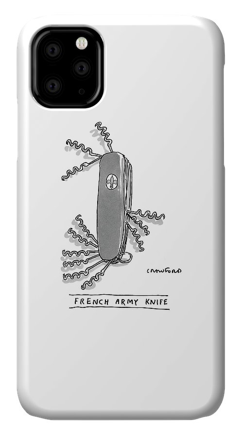 French Army Knife IPhone Case