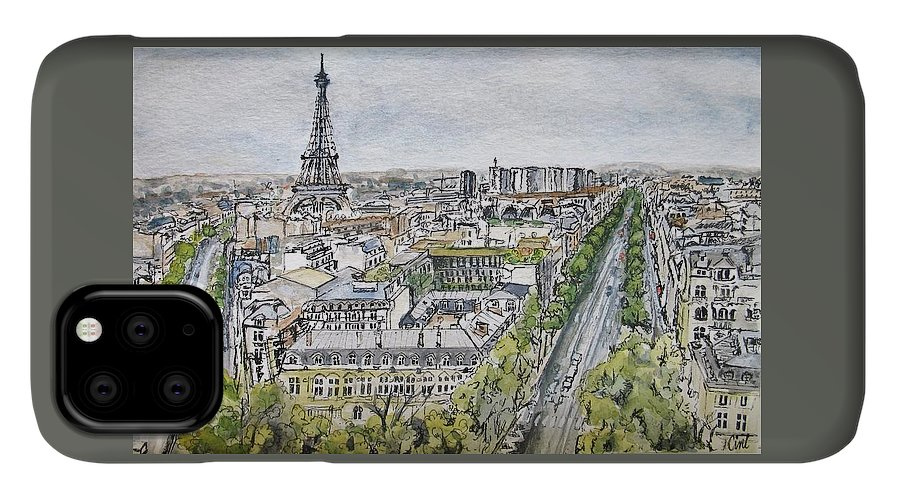 Sky IPhone Case featuring the painting From The Arc by Lisa Cini