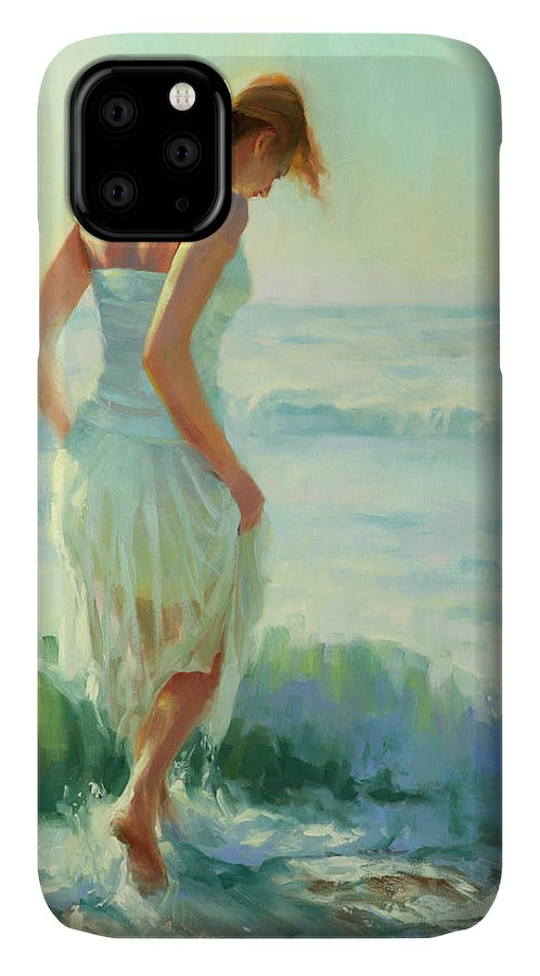 Seashore IPhone Case featuring the painting Gathering Thoughts by Steve Henderson