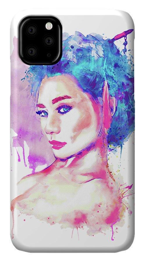 Geisha IPhone Case featuring the painting Geisha Girl by Marian Voicu