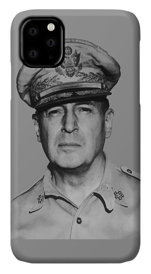 Douglas Macarthur IPhone Case featuring the painting General Douglas Macarthur by War Is Hell Store