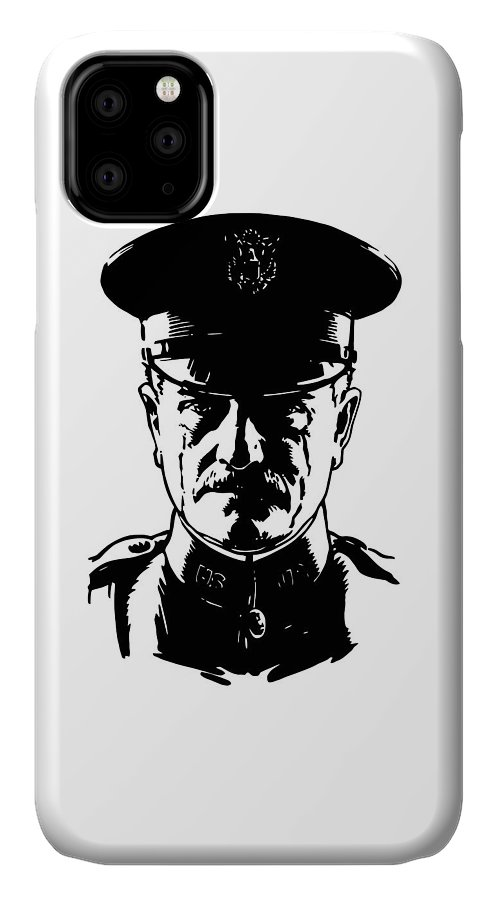 General Pershing IPhone 11 Case featuring the digital art General John Pershing by War Is Hell Store