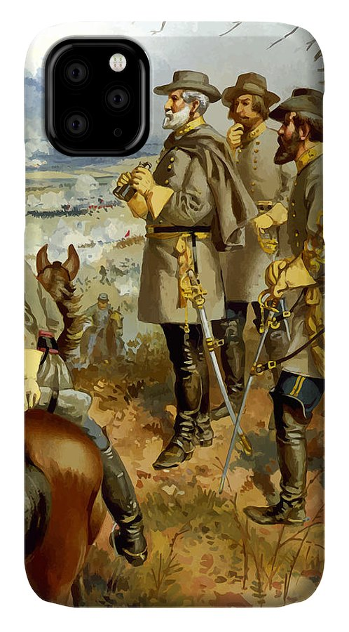 Civil War IPhone Case featuring the painting General Lee At The Battle Of Fredericksburg by War Is Hell Store