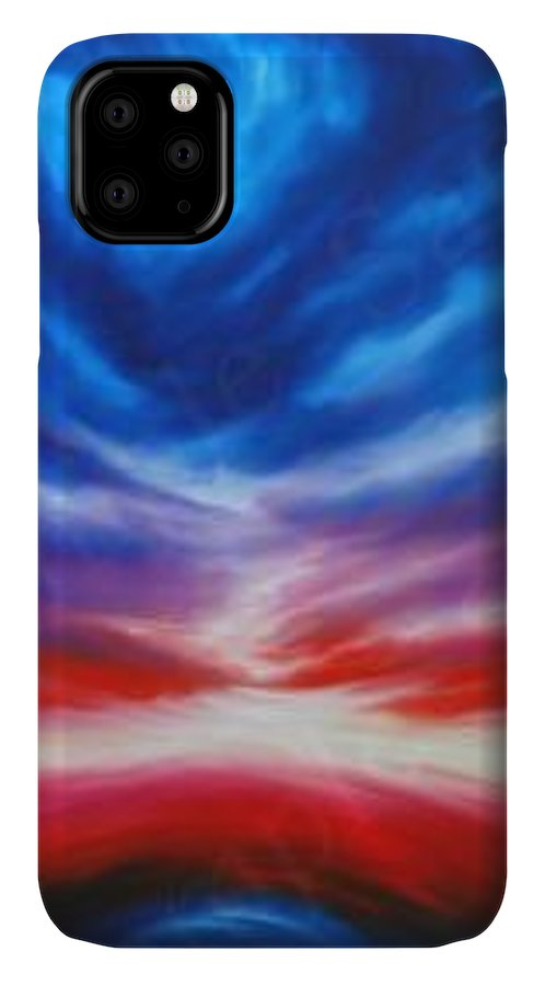 Tempest IPhone Case featuring the painting Genesis III by James Christopher Hill