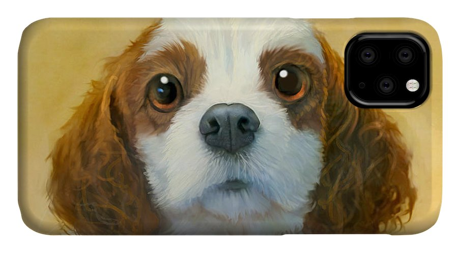 Dog IPhone Case featuring the painting More Than Words by Sean ODaniels