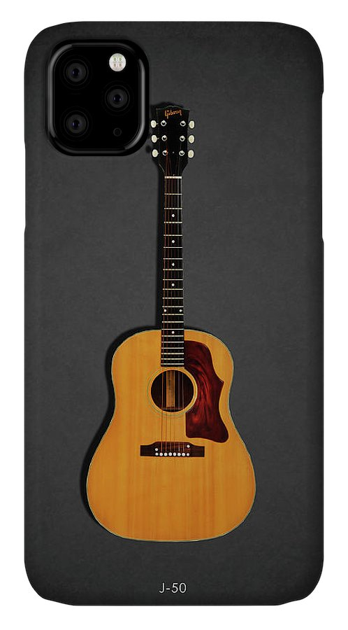 Gibson J-50 IPhone Case featuring the photograph Gibson J-50 1967 by Mark Rogan