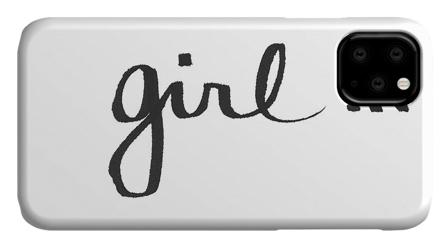 Little Black Dress IPhone Case featuring the painting Girl Talk- Art By Linda Woods by Linda Woods