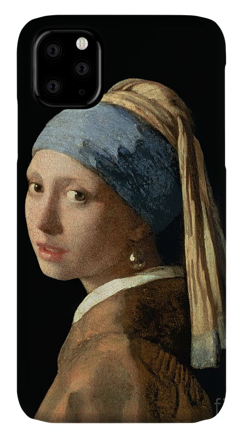 Jan Vermeer IPhone Case featuring the painting Girl with a Pearl Earring by Jan Vermeer