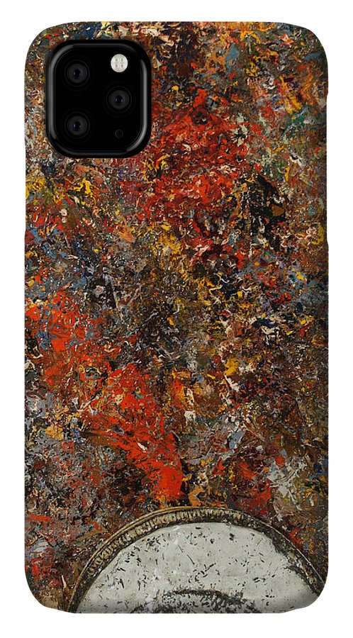 Global Warming IPhone 11 Case featuring the painting Global Warming by James W Johnson
