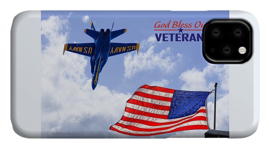 Photo IPhone Case featuring the photograph God Bless Our Veterans by Brian Tada