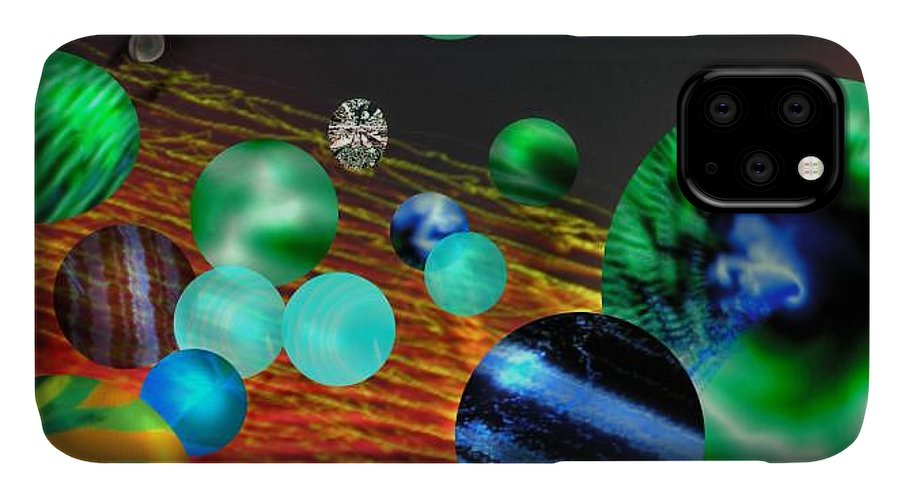 A Tribute To Donovan And His Song cosmic Wheels. A Line In The Song...god Is Playing Marbles With IPhone Case featuring the digital art God Playing Marbles Tribute To Donovan by Seth Weaver