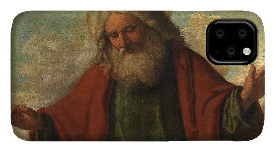 Christ IPhone 11 Case featuring the painting God The Father by Cima da Conegliano