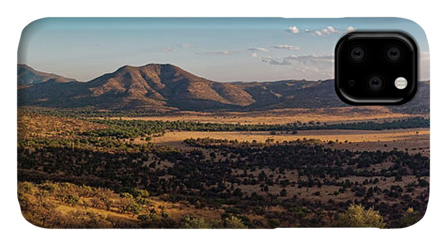 Davis Mountains IPhone Case featuring the photograph Golden Hour Panorama Of Davis Mountains - Blue And Paradise Mountain And Mount Livermore West Texas by Silvio Ligutti