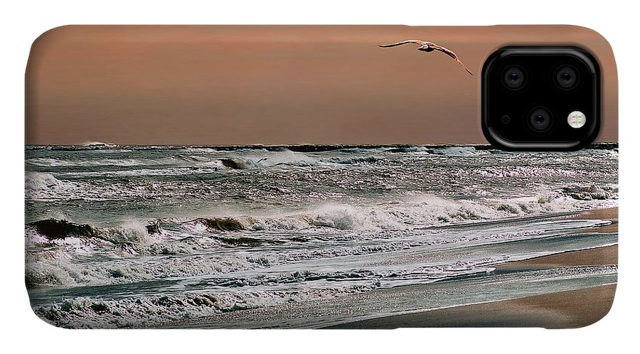 Seascape IPhone Case featuring the photograph Golden Shore by Steve Karol