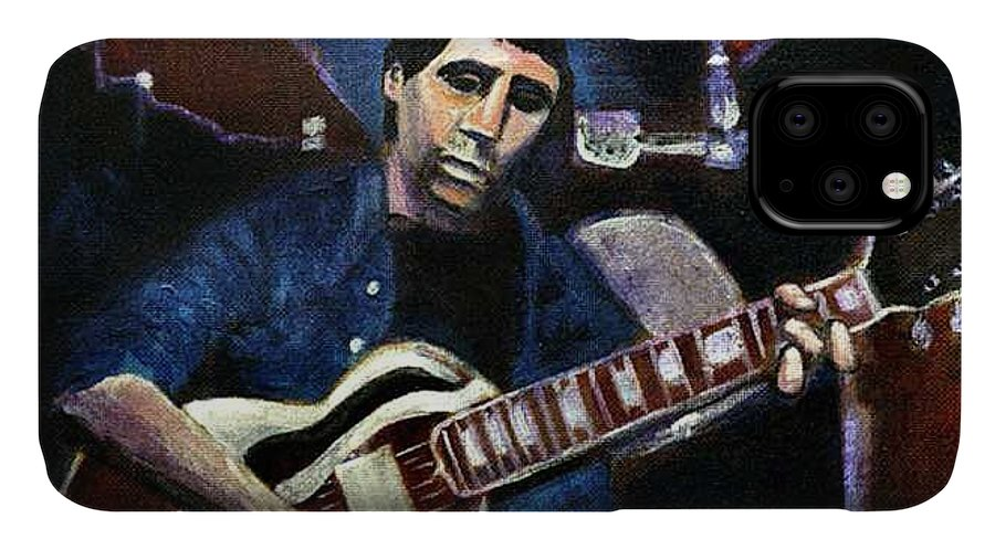 Shining Guitar IPhone Case featuring the painting Graceland Tribute to Paul Simon by Seth Weaver