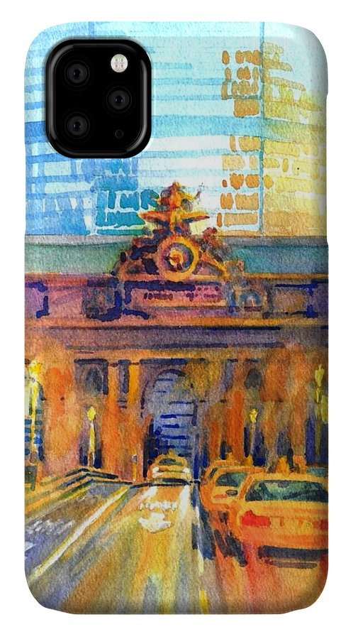 New York City IPhone Case featuring the painting Grand Central Before Six, Driver by Virgil Carter