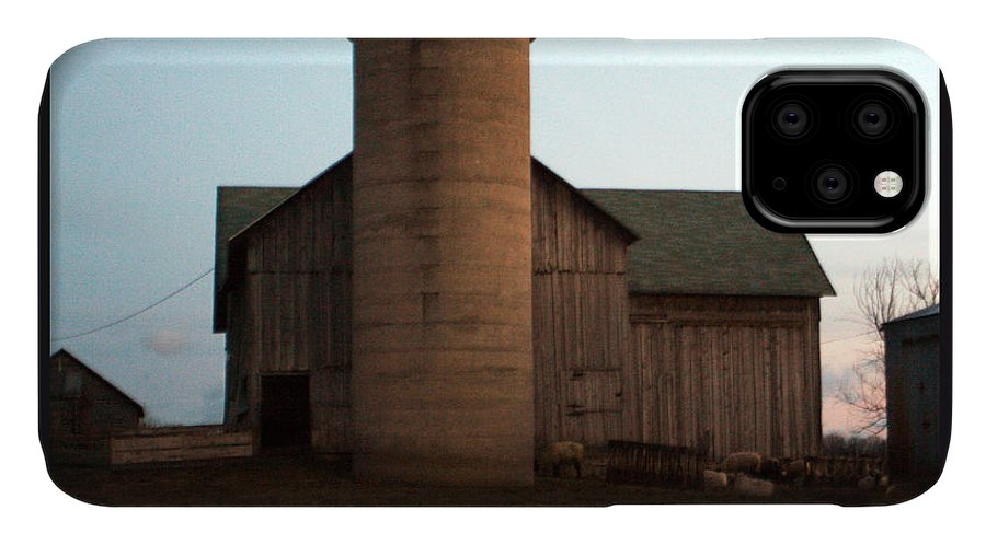 Barn IPhone Case featuring the photograph Grazing at Dawn by Tim Nyberg