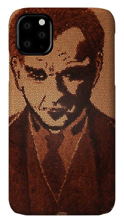 Mustafa Kemal Ataturk Pop Art IPhone Case featuring the painting Great Mustafa Kemal Ataturk by Georgeta Blanaru