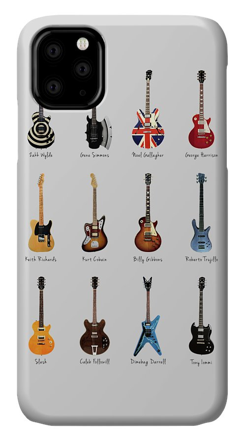Fender Stratocaster IPhone Case featuring the photograph Guitar Icons No3 by Mark Rogan