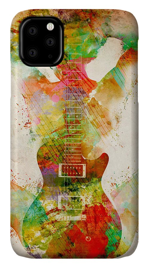Guitar IPhone Case featuring the digital art Guitar Siren by Nikki Smith