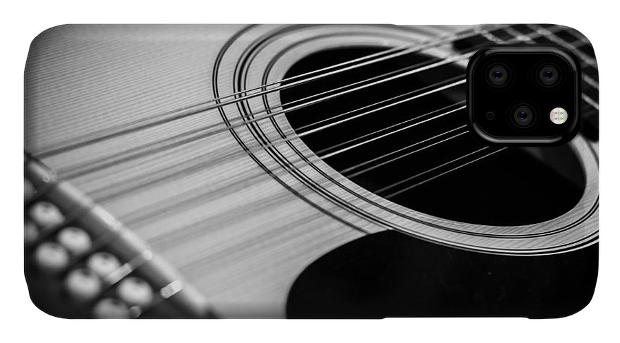 Guitar IPhone Case featuring the photograph Guitar3 by Bob Mintie