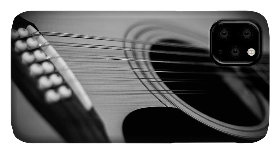 Guitar IPhone Case featuring the photograph Guitar4 by Bob Mintie