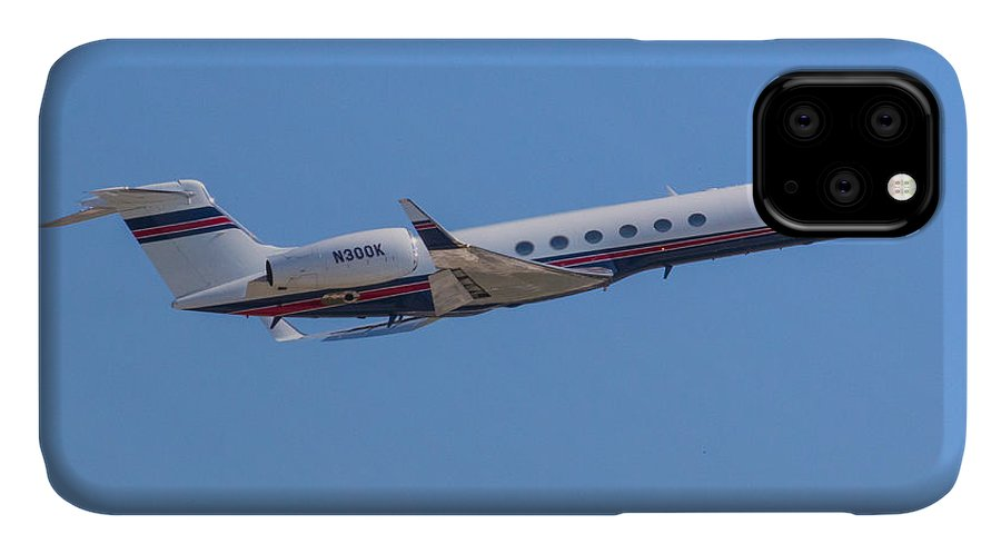 Gulfstream IPhone Case featuring the photograph Gulfstream GV Private Jet by Dart and Suze Humeston