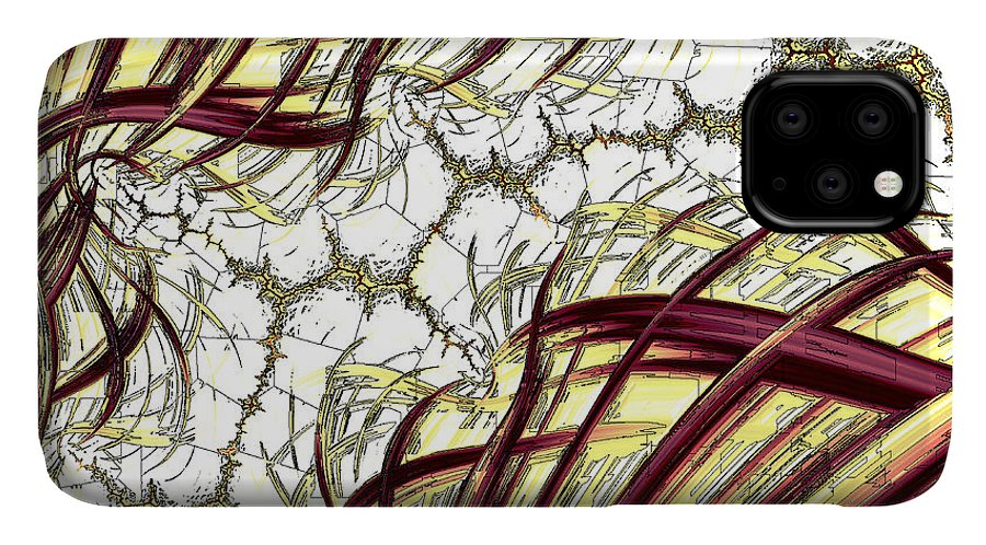 Art IPhone 11 Case featuring the digital art Hairline Fracture by Vix Edwards