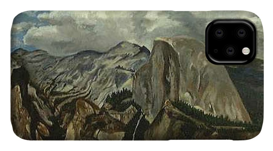 IPhone Case featuring the painting Half Dome by Travis Day