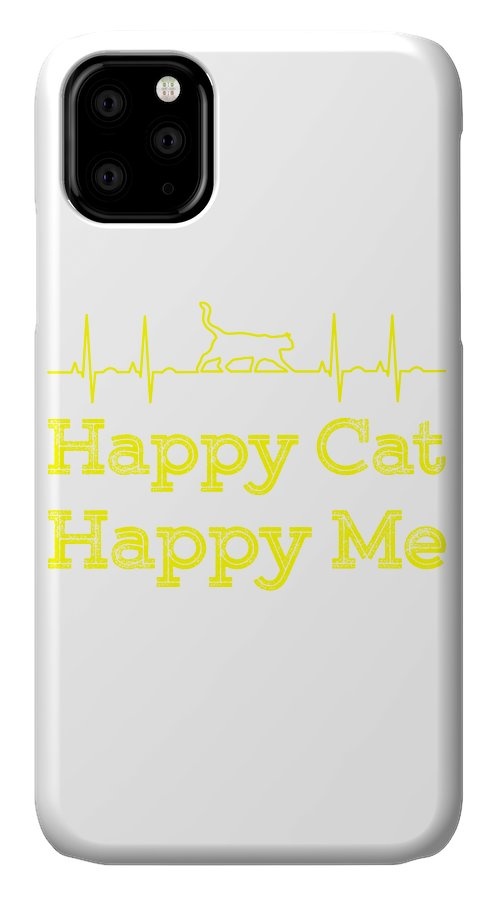 Cat IPhone Case featuring the digital art Happy cat Happy me1 by Kaylin Watchorn