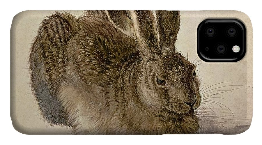 Hare IPhone Case featuring the painting Hare by Albrecht Durer