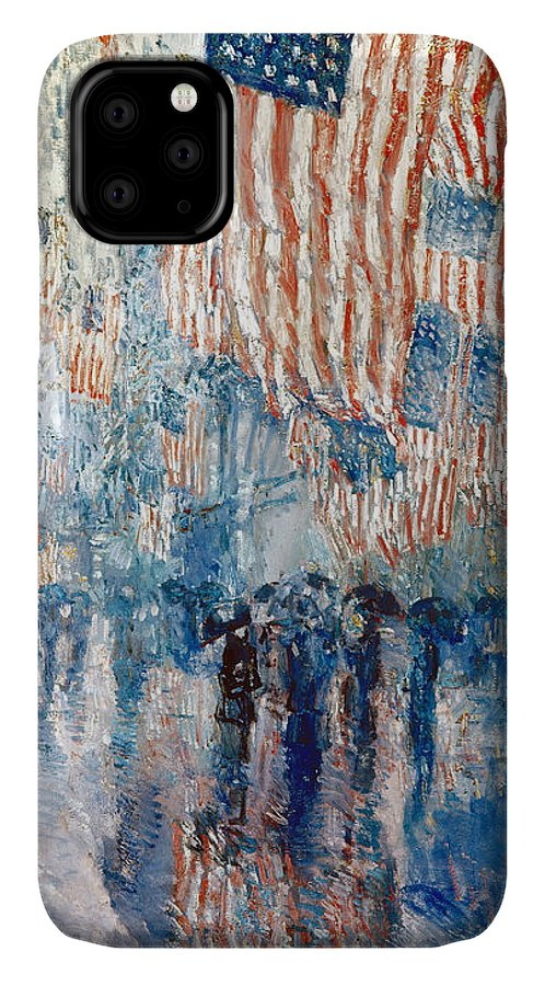 1917 IPhone Case featuring the photograph Hassam Avenue In The Rain by Granger