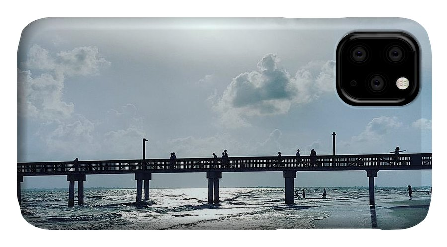 Water IPhone 11 Case featuring the photograph Hazy Sun Down by Ric Schafer