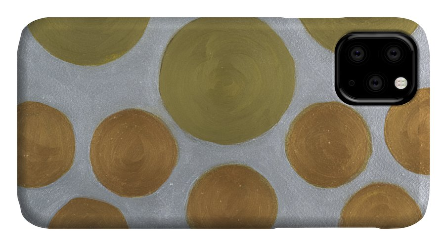 He Tu IPhone Case featuring the painting He Tu Metal Round by Adamantini Feng shui