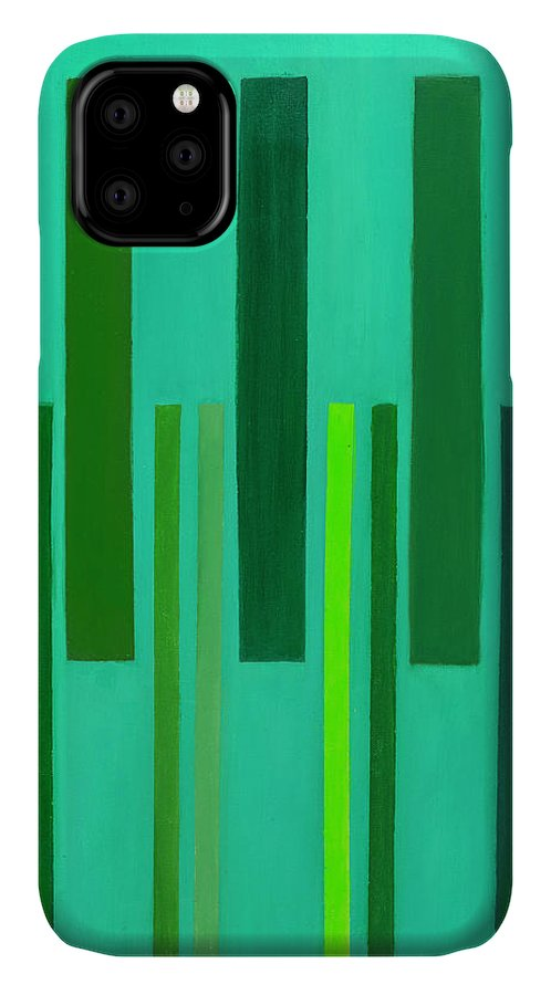 He Tu IPhone Case featuring the painting He Tu Wood by Adamantini Feng shui