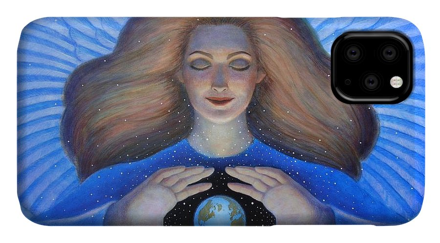 Goddess IPhone Case featuring the painting Heart Of Creation by Sue Halstenberg