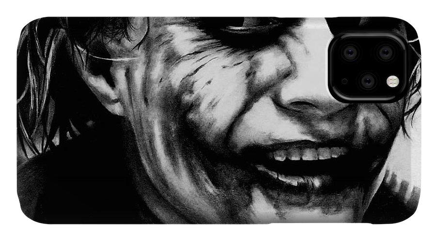 Heath Ledger Joker Iphone Case For Sale By Rick Fortson