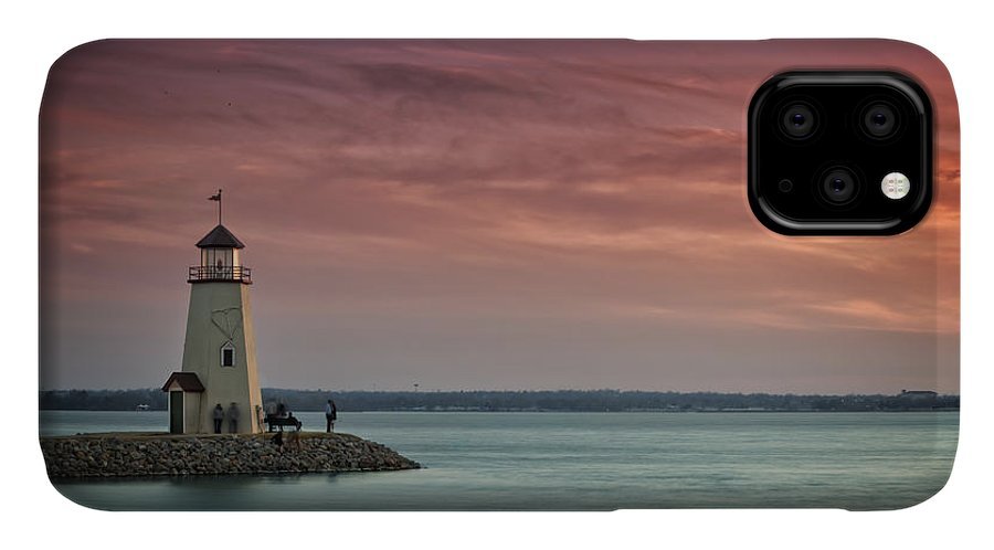 Lighthouse IPhone Case featuring the photograph Hefner Sunset II by Ricky Barnard