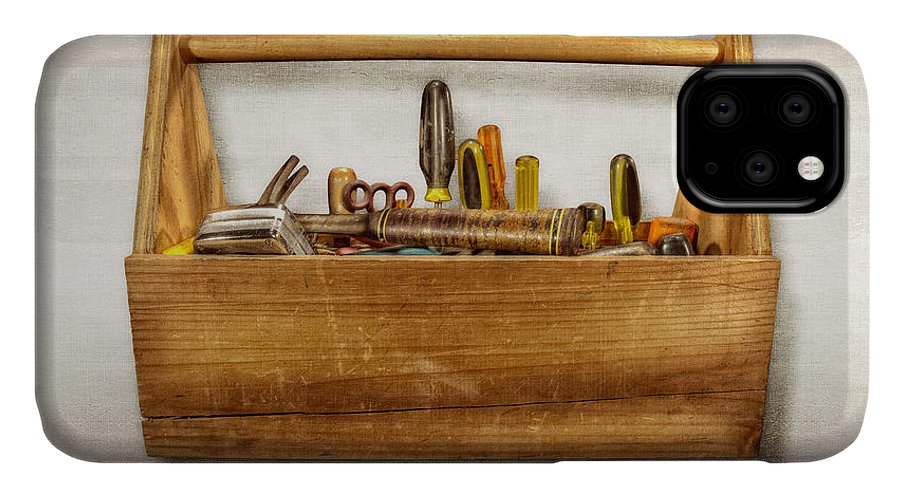 Box IPhone Case featuring the photograph Henry's Toolbox by YoPedro