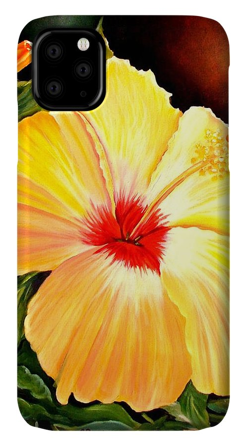 Hibiscus IPhone Case featuring the painting Hibiscus Glory by Carol Allen Anfinsen