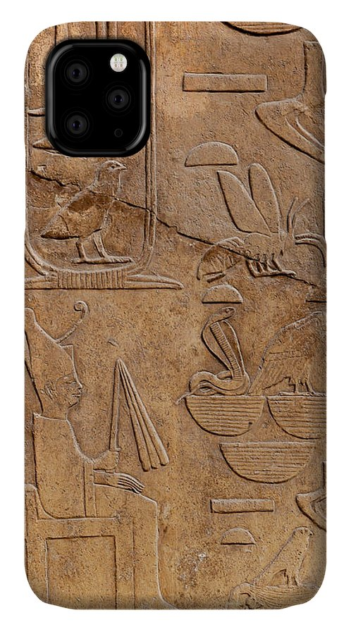 Africa IPhone Case featuring the photograph Hieroglyphs on ancient carving by Jane Rix