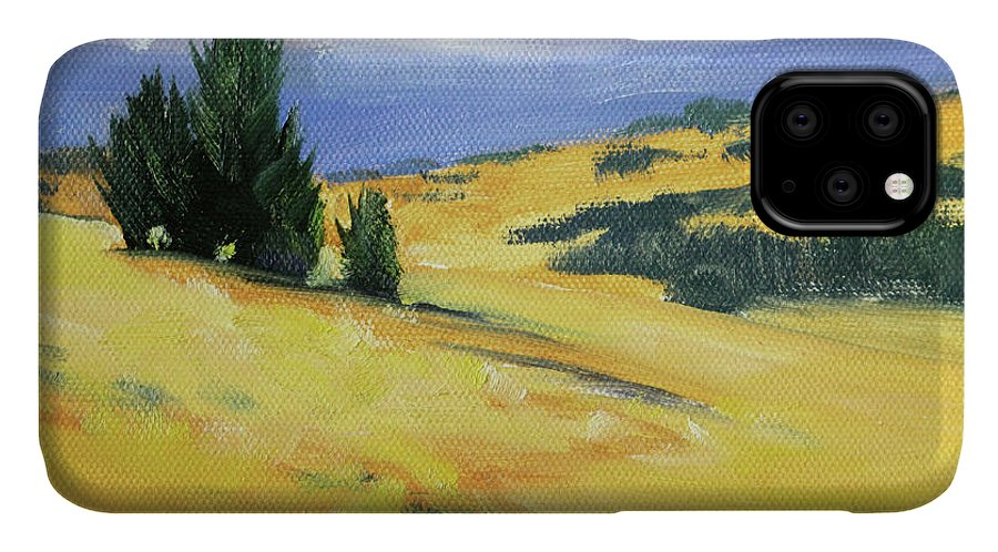 High Desert IPhone Case featuring the painting High Desert Horizon by Nancy Merkle