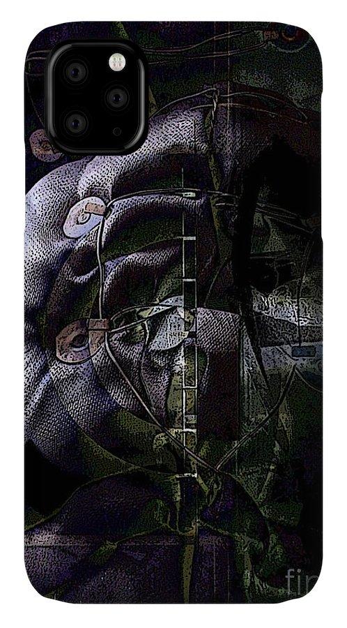 Strung IPhone Case featuring the digital art High Strung by Ron Bissett