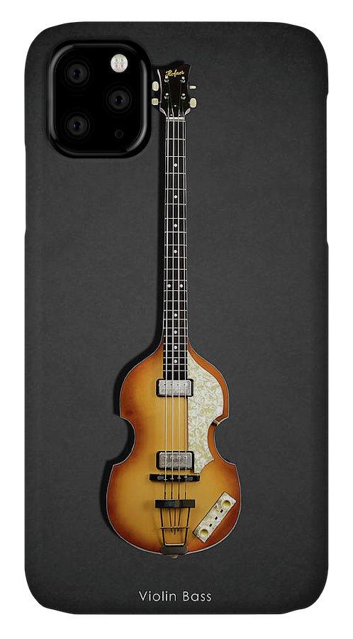 Hofner Violin Bass IPhone Case featuring the photograph Hofner Violin Bass 62 by Mark Rogan